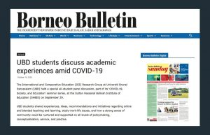 ICE Student Seminar in the Borneo Bulletin