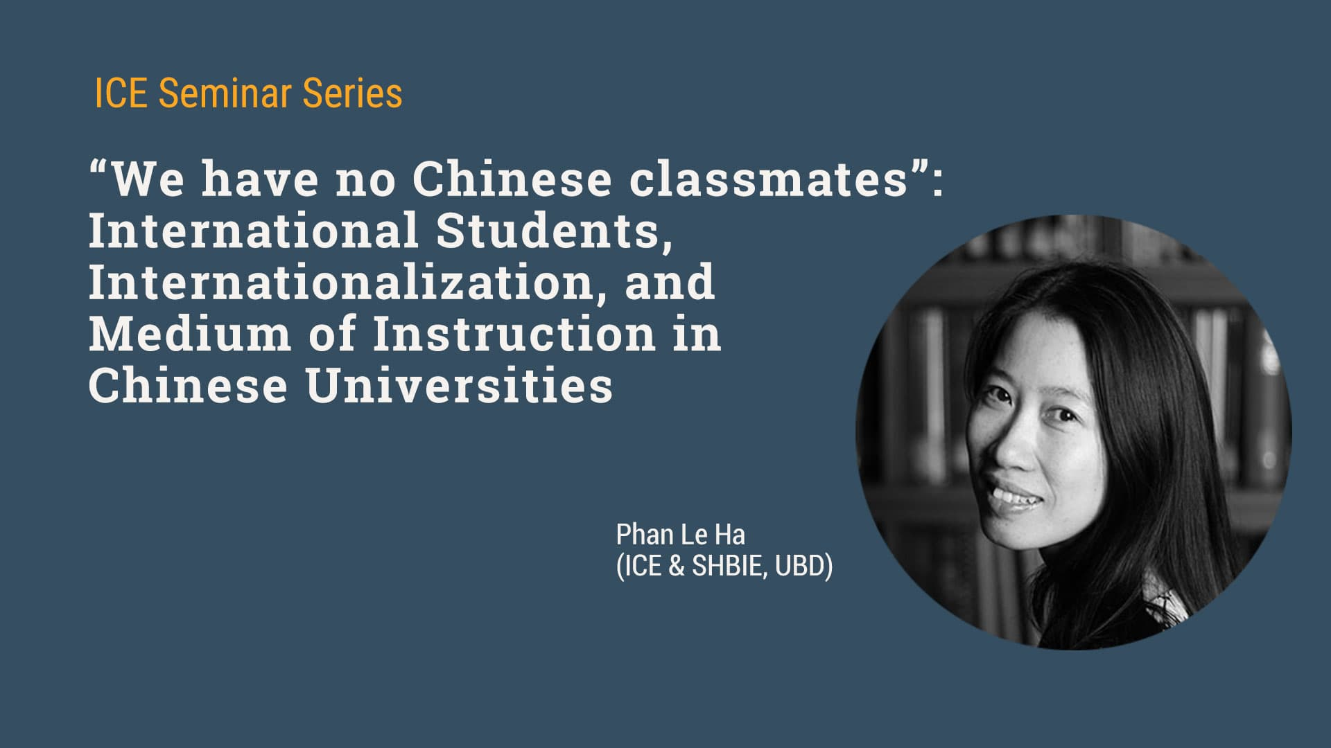 Seminar on International Students in Chinese Universities